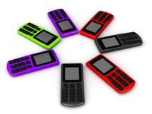 Komórkowi telefony ilustracja wektor