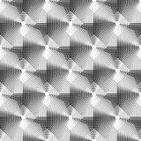 Komórkowy geometryczny wzór, płynnie powtarzalny Abstrakt mono ilustracji
