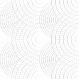 Komórkowy wzór z cienkimi liniami okręgi Powtarzalny subtelny ilustracja wektor
