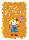 Kom aan mijn Partij - Meisje royalty-vrije illustratie