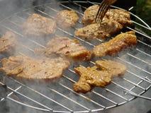 Kom & grill samen Stock Fotografie