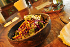 Kom Aziatisch gezond heerlijk voedsel Royalty-vrije Stock Foto