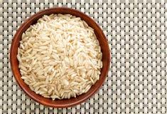 Kom Basmati rijst Stock Foto's