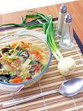 Kom Chinese soep royalty-vrije stock afbeelding