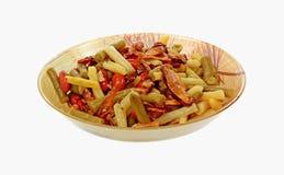 Kom de Salade van Boon Drie en van de Paddestoel stock foto's