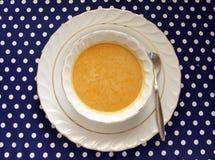 Kom de Soep van de Pompoen Butternut Stock Afbeelding