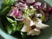 Kom een verse groentesalade stock afbeeldingen