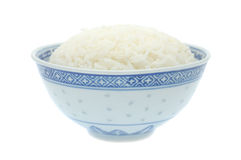 Kom gekookte rijst Stock Afbeeldingen
