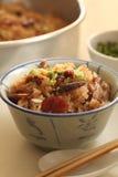 Kom glutineuze rijst Royalty-vrije Stock Afbeeldingen