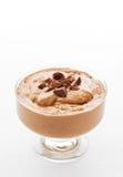Kom met chocolademousse Stock Afbeeldingen