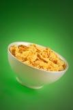 Kom met cornflakes Stock Foto