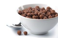 Kom met geïsoleerde chocoladeballen Royalty-vrije Stock Foto's