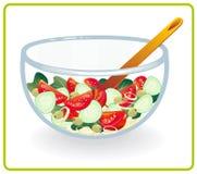 Kom met salade Stock Fotografie
