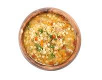 Kom minestronesoep stock foto's