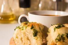 Kom minestronesoep met brood royalty-vrije stock fotografie