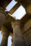 Kom Ombo temple. Details of Egyptian art. An example of the art of the pharaohs Royalty Free Stock Photography