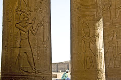 Kom Ombo temple. Details of Egyptian art. An example of the art of the pharaohs Stock Photo