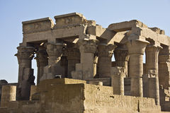 Kom Ombo temple. Details of Egyptian art. An example of the art of the pharaohs Royalty Free Stock Images