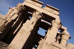 Kom Ombo Temple. Front of hthe temple of kom ombo Aswan Royalty Free Stock Images