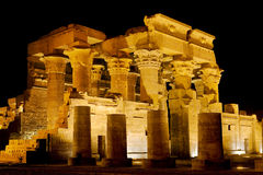Kom Ombo Temple By Night Stock Image