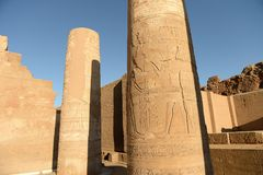 Kom Ombo Temple. The Kom Ombo temple ruins in Egypt Stock Photos