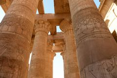 Kom Ombo Temple. The Kom Ombo temple ruins in Egypt Royalty Free Stock Photo