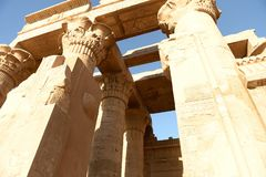 Kom Ombo Temple. The Kom Ombo temple ruins in Egypt Royalty Free Stock Photography