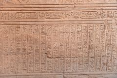 Kom Ombo Temple. The Kom Ombo temple ruins in Egypt Royalty Free Stock Photos