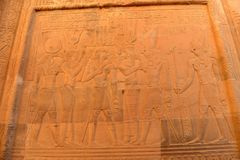 Kom Ombo Temple. The Kom Ombo temple ruins in Egypt Stock Photo