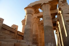 Kom Ombo Temple. The Kom Ombo temple ruins in Egypt Stock Images