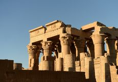 Kom Ombo Temple. The Kom Ombo temple ruins in Egypt Stock Image