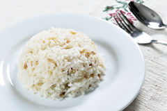 Kom rijst Stock Fotografie