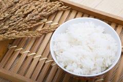 Kom rijst en padie royalty-vrije stock foto's