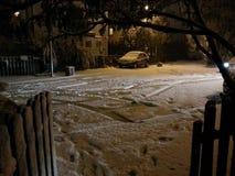 Kom in sneeuw Stock Foto