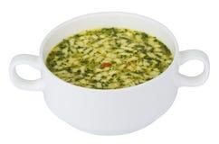 Kom soep met deegwaren Royalty-vrije Stock Foto