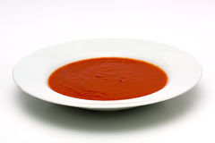 Kom tomatensoep stock fotografie