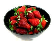 Kom van Aardbeien Royalty-vrije Stock Afbeeldingen