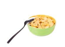 Kom van cornflakes Stock Afbeeldingen