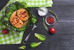 kom van de koteletten van het kippenvlees Royalty-vrije Stock Foto