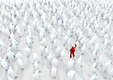 Kom van de menigte duidelijk uit Stock Fotografie