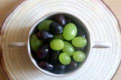 Kom van Druiven Royalty-vrije Stock Foto