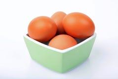 Kom van eieren Royalty-vrije Stock Afbeeldingen