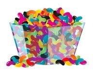Kom van Geassorteerde Jellybeans Royalty-vrije Stock Foto