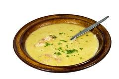 Kom van vers Gekookt Hartelijk Erwt en Ham Soup royalty-vrije stock foto
