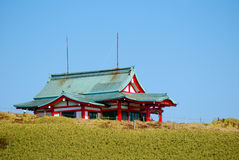 Komagatake shrine, Mt. Komagatake, Japan. A shinto shrine on the slopes of Mt. Komagatake Stock Photography