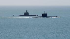 komando afrykańskich, łodzie podwodne na południe Zdjęcia Royalty Free