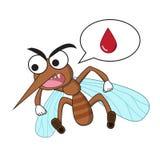 Komar w kreskówka stylu, odosobnionym na bielu Zdjęcie Royalty Free