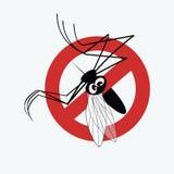 Komara znak ostrzegawczy 3 ilustracja wektor