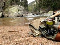 Komarnica połów na strumieniu Zdjęcie Royalty Free