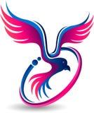 Komarnica ptaka logo royalty ilustracja